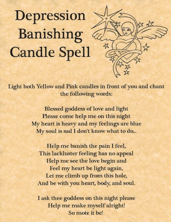 Depression Banishing Candle Spell
