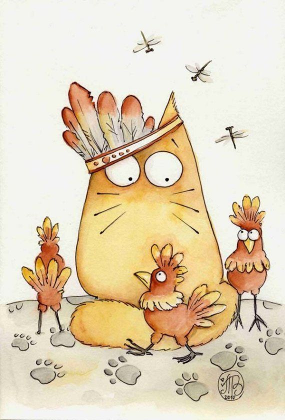 Смешная мультяшная картинка кота, мая открытка