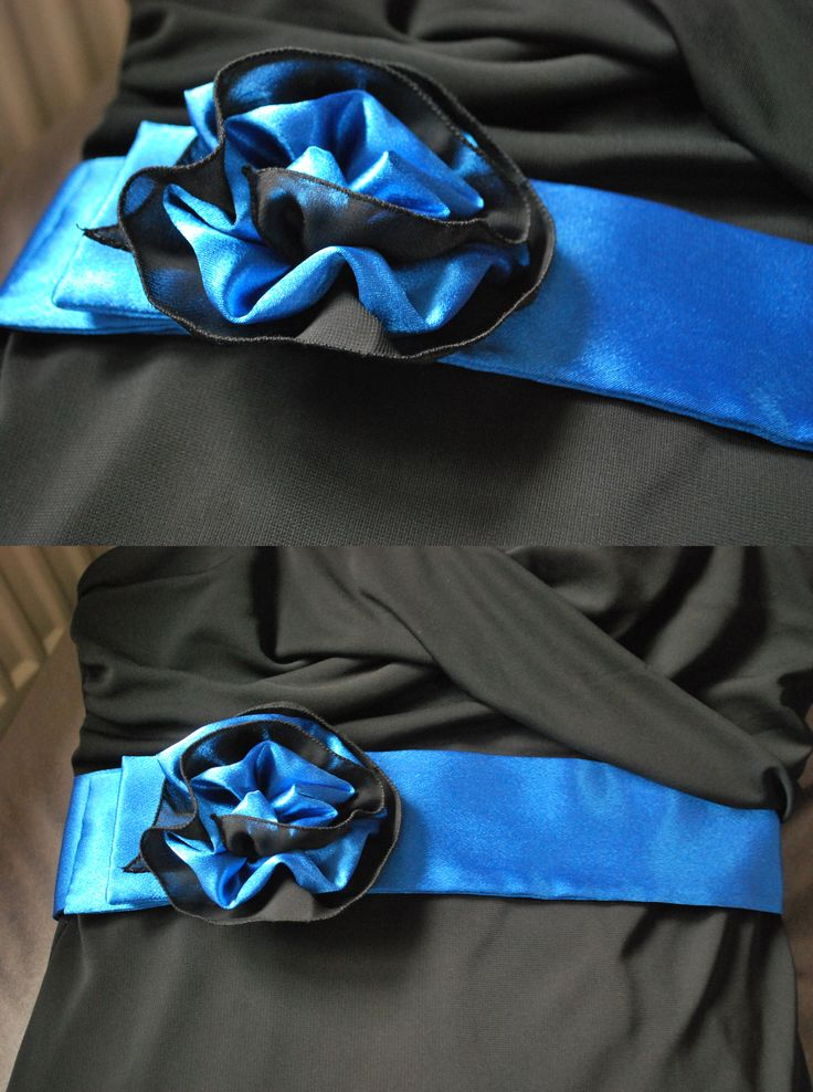 Satin belt with flower - new look for little black dress