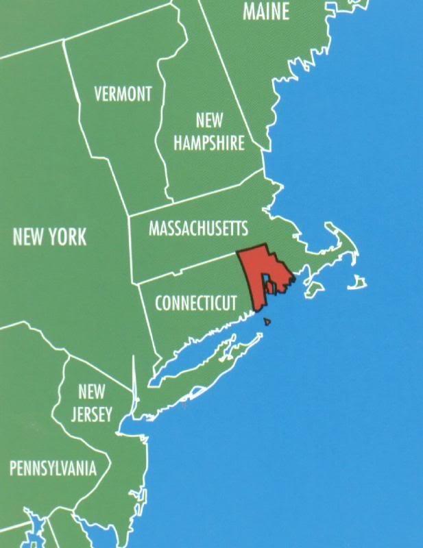Rhode Island Travel Mapsrhode Islandunited Statesbucketengland