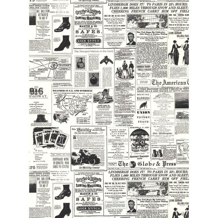 York Wallcoverings 56 sq. ft. Headline News Wallpaper-KW7620 - The Home Depot