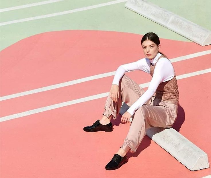 Pretty in pink paired with Emerson Oxfords