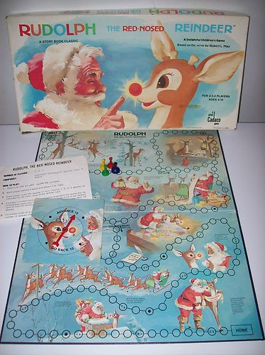 Vintage 1977 Rudolph the Red Nose Reindeer Board Game by Cadaco. Christmas - Santa Claus - Rankin Bass
