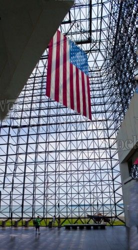 American Flag in Kennedy Library