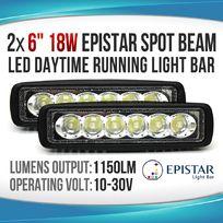 2x18W LED LIGHT BAR SPOT Daytime Running LIGHT Work Light OFFROAD 4WD BOAT UTE