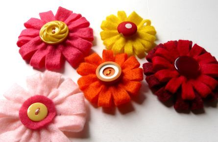 Loopy Felt Flowers
