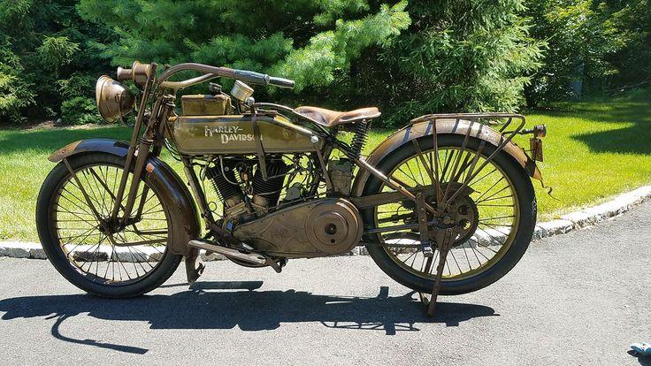 Rare Find: Orignial Paint 1918 Harley Antique Motorcycle #Almost100Years #HarleyDavidson #AnOriginal #HellbenderHD