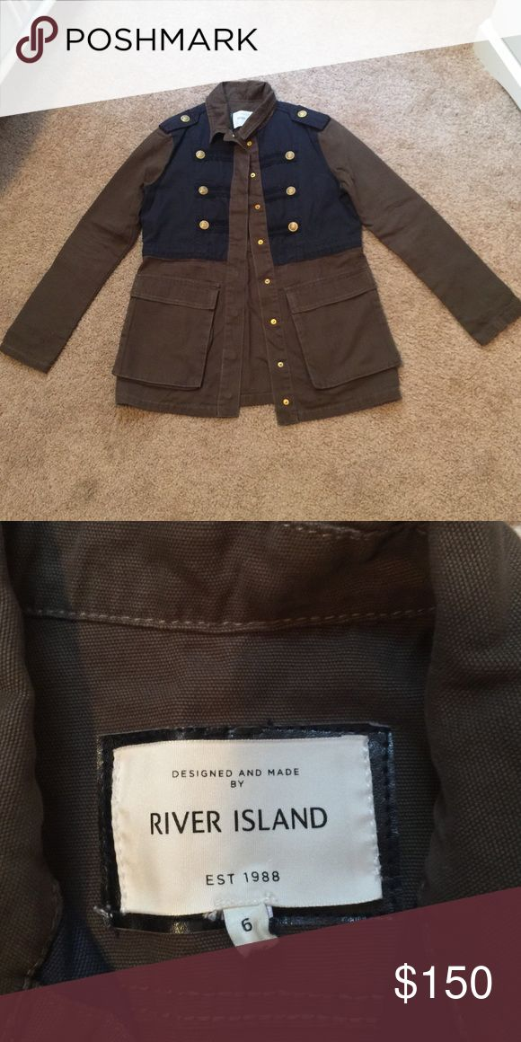 New River Island jacket Size uk 6 euro 32 never worn stayed in my closet for really long so I'd like to sell it as in like new condition. Good for fall. I don't model please don't ask. River Island Jackets & Coats Utility Jackets