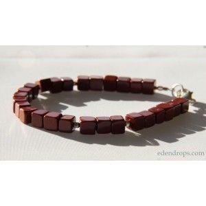Bracelet en Jaspe rouge pour Hommes ou mixte Jasper stone bracelet for Men