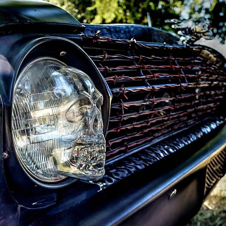 vacuum formed skull headlight covers.
