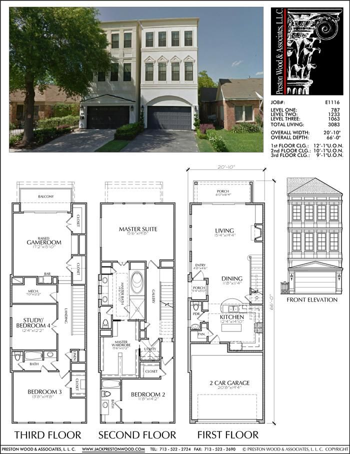 Townhouse Luxury Townhome Design Urban Brownstone Development Preston Wood Associates Town House Floor Plan Townhouse Vintage House Plans