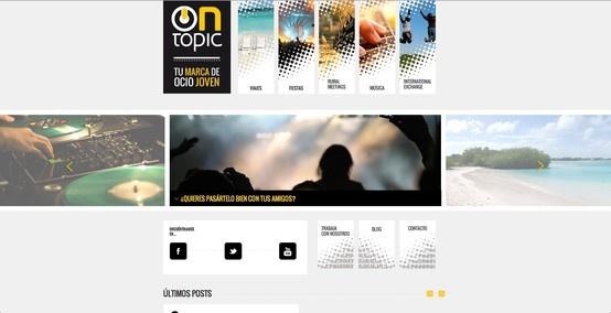 """Desde Indiproweb os presentamos nuestro nuevo trabajo web realizado para esta empresa de Madrid dedicada al sector del Ocio """"Ontopic"""". www.ontopic.es"""