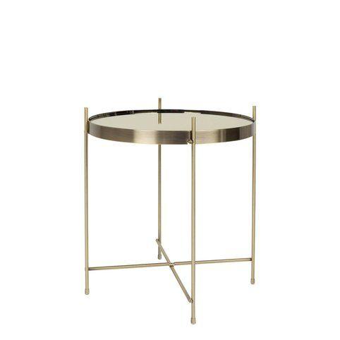 Table basse guéridon métal plateau miroir Cupid Zuiver