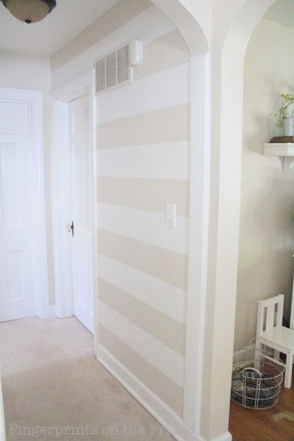 31 Projects..Day 2.. Striped Hallway