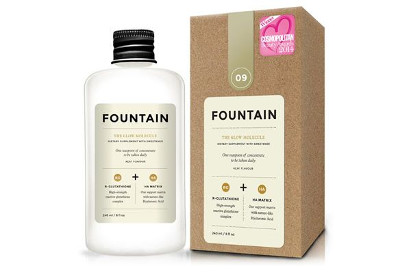 Prevent free radical damage from dulling your skin with Fountain The Glow Molecule daily liquid supplement.
