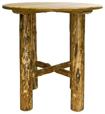 Montana Woodworks Bistro Table in Glacier Country - rustic - Indoor Pub And Bistro Sets - Beyond Stores