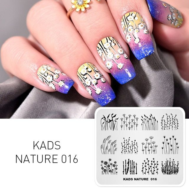 Kads Stamping Plate Nature 016 Wild Lively Plants Design Image