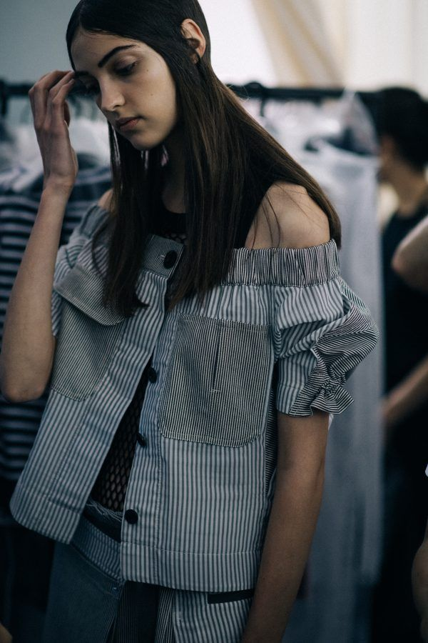 Backstage at Sacai | Paris via Le 21ème