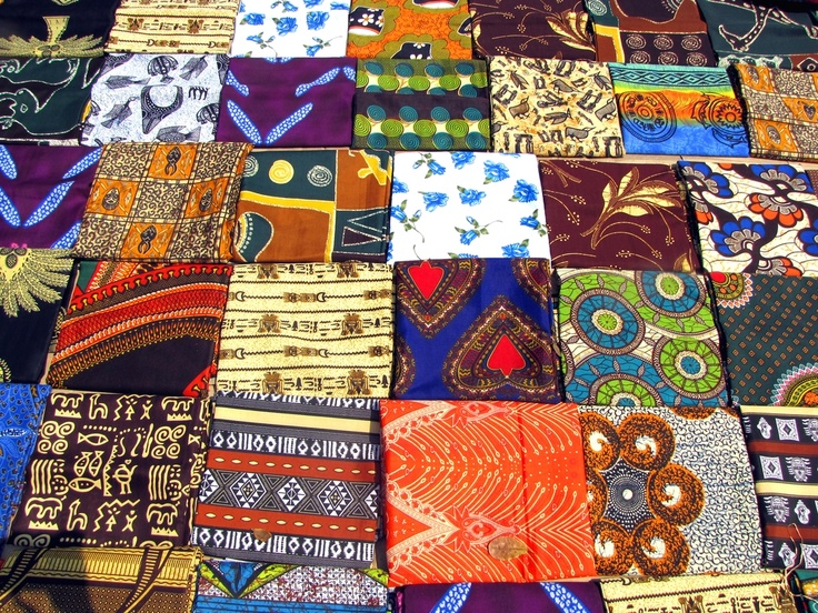 The rich colors and patterns of Mozambican fabrics. #Mozambique