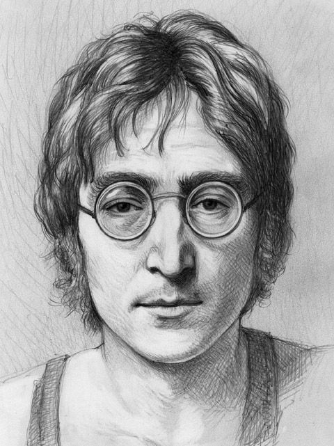 John Lennon by thedrawinghands on deviantART