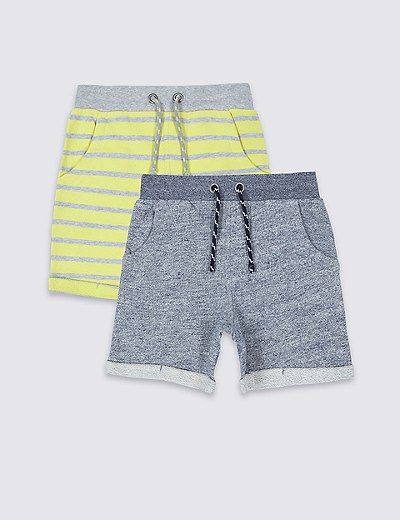 2 Pack Pure Cotton Shorts (3 Months - 5 Years) | Marks & Spencer London