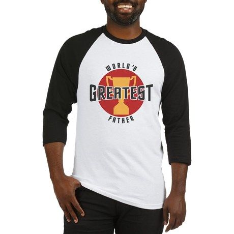 WORLDS GREATEST FATHER Baseball Jersey on CafePress.com.com #fathers #dad #fathersday