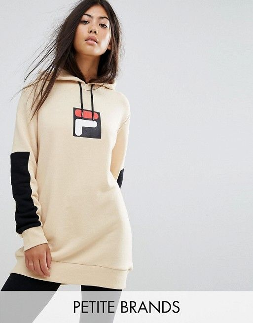 Fila Petite Hoodie with Contrast Logo Detail