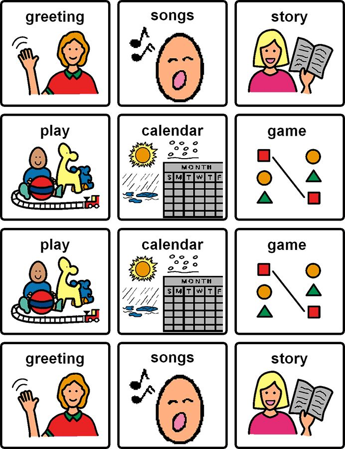 Picture cards are a great way to help people with FASD learn routine ...