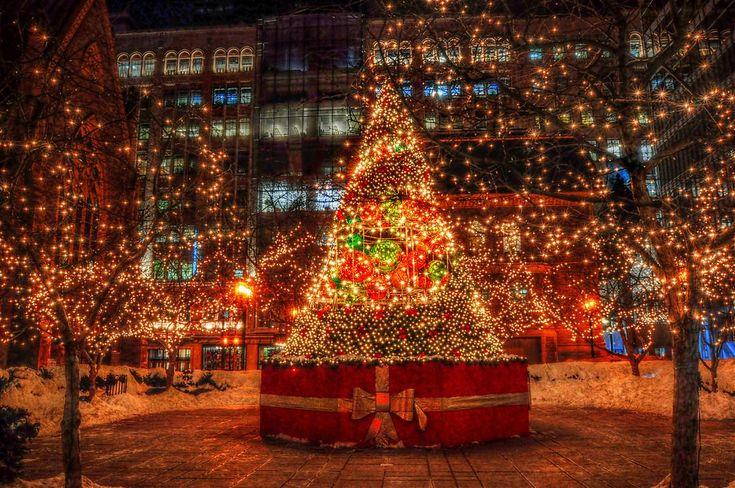 Christmas Lights, Montreal, Canada