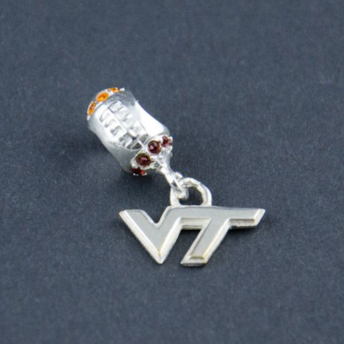 Charmed Memories Virginia Tech University Sterling Silver Charm GjgiLKR