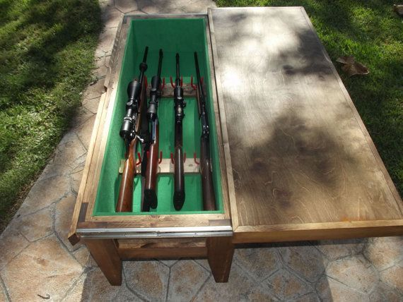 Check out this item in my Etsy shop https://www.etsy.com/listing/208794061/gun-cabinet-coffee-table