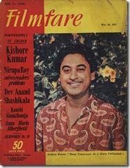 Kishore Kumar on Filmfare Magazine Cover - May 1957