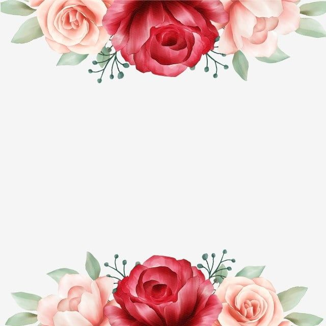 Elegant Floral Border Decorative With Soft Color Watercolor Flowers Flowers Wedding Invite Png Transparent Clipart Image And Psd File For Free Download Em 2020 Beira Floral Flores Em Aquarela Moldura De Flores