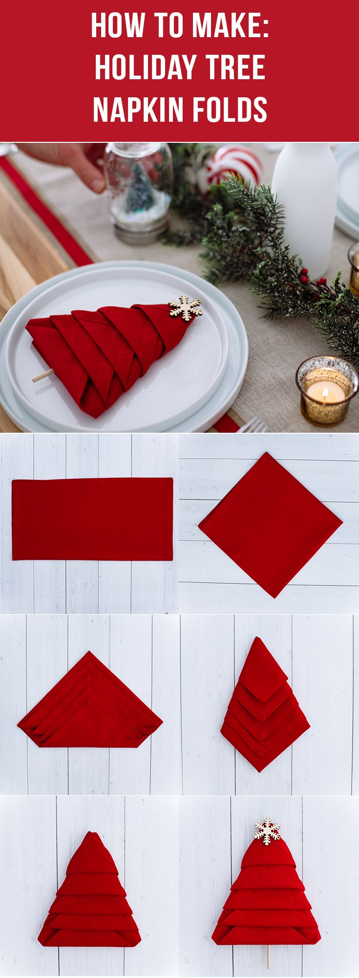 Add personality and style to any holiday table during the festive season with this simple and easy-to-make DIY tree napkin fold! Learn the step-by-step instructions from Walmart today and have a merry and festive holiday!