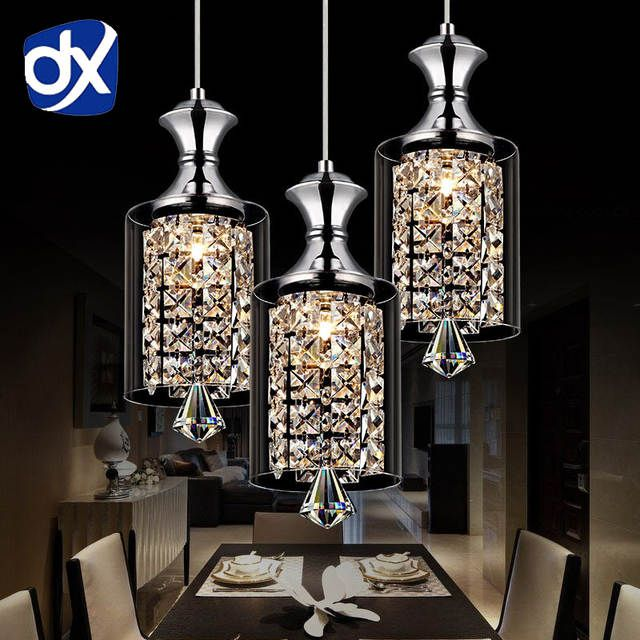 Online Shop Modern Pendant Chandelier 15w Led Crystal Pendant Lamp Three Head Disc Chandelier Pendant Lights Modern Crystal Chandelier Crystal Pendant Lighting