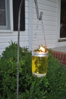 Mason Jar Citronella Lanterns