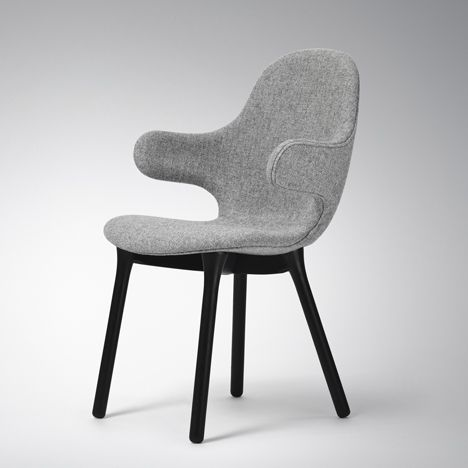 Spanish designer Jaime Hayón created a chair with armrests that stretch outwards like limbs for Danish brand &tradition.