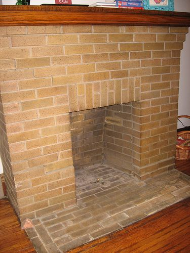 Cleaning brick fireplaces and Paint brick fireplace white
