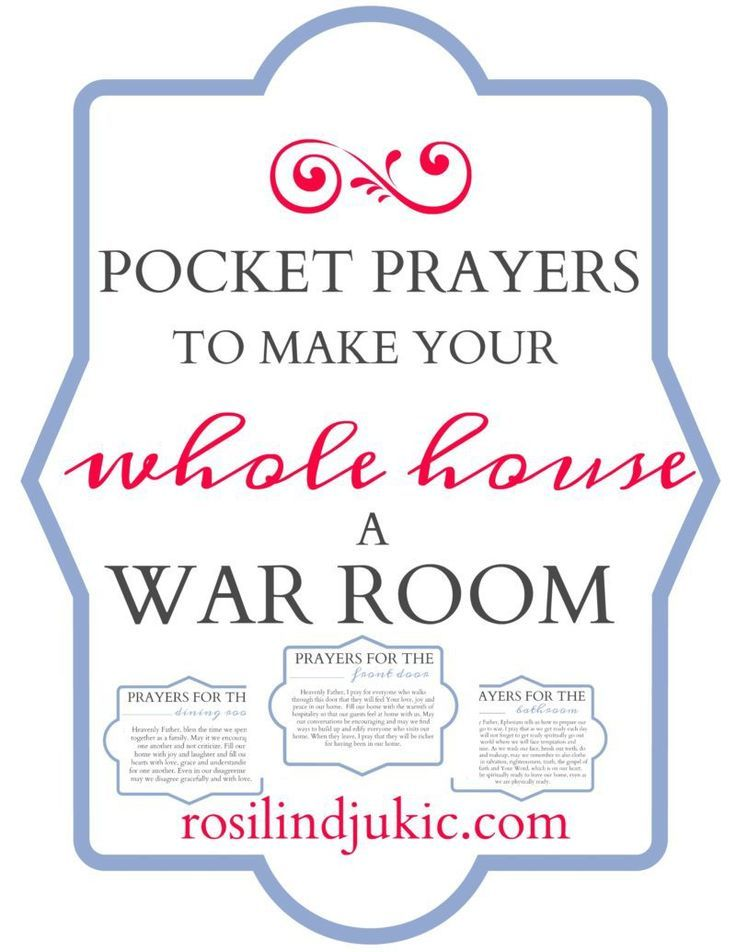 Pocket Prayers to Make Your Whole House a War Room ⋆ A Little R & R