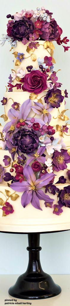 Purple Cascade - Rosalind Miller Cakes
