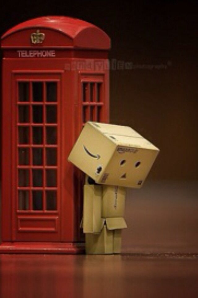 robot laying on the telephone call