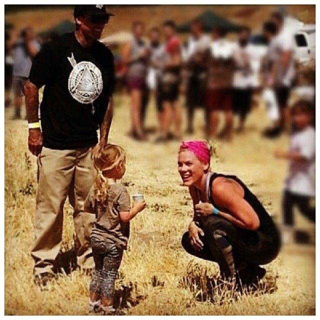 P!nk at Tough Mudder race, 17th May 2014 with @Lisa Hart & Willow