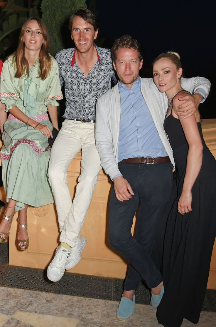 Who said being an adult had to be boring?. Lady Alice Manners, Otis Ferry, Robin Scott-Lawson and Clara Paget