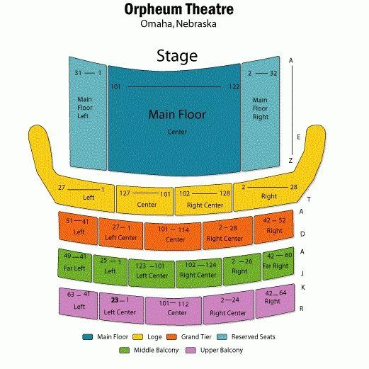 Orpheum Mn Seating Chart Brokeasshome Com Chart Nebraska Omaha