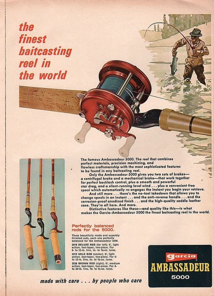 1968 Abu Garcia 5000 fishing reel ad.