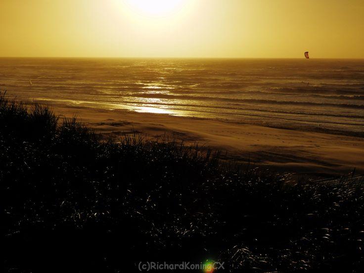 Golden sunset at Zandvoort NL