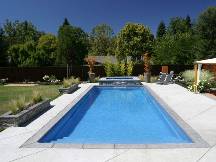 ocean breeze viking pools rectangle design custom pools fremont ca - Rectangle Pool With Water Feature
