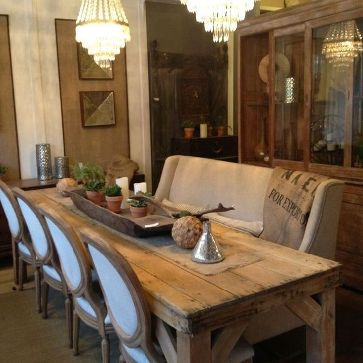 42 Fabulous Farmhouse Table Design Ideas With Rustic Style