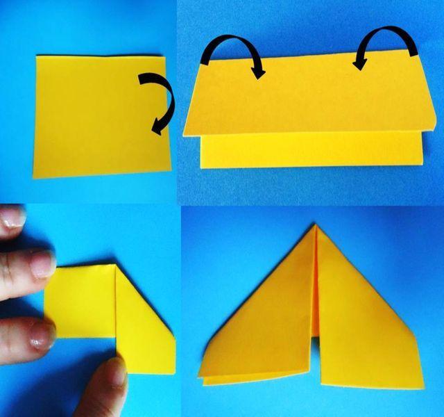 Cómo doblar triángulos (piezas básicas) para origami de 3D: Empieza a doblar tu triángulo.