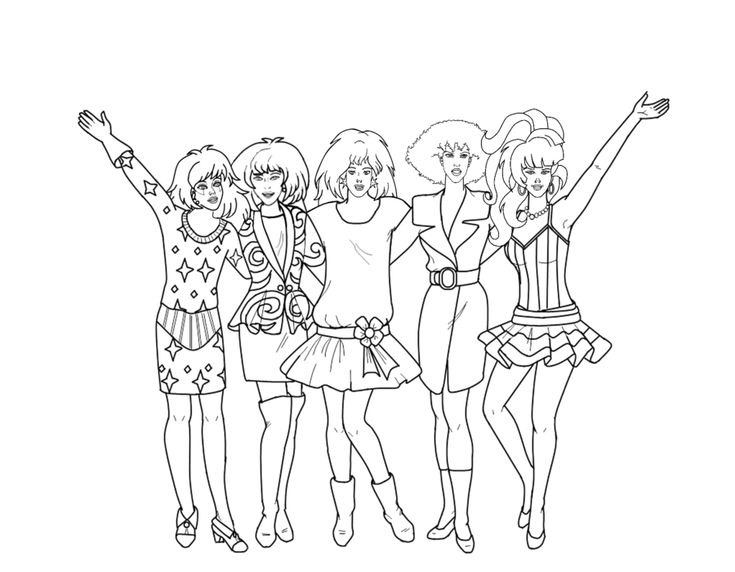 free 80s coloring pages | 33 best Crafty (80's Jem) Coloring images on Pinterest ...